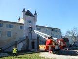 Exercice de sécurité civile au château de Rochemure