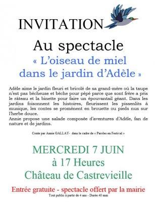 Spectacle pour enfants, aujourd'hui à 17h00, à Castrevieille