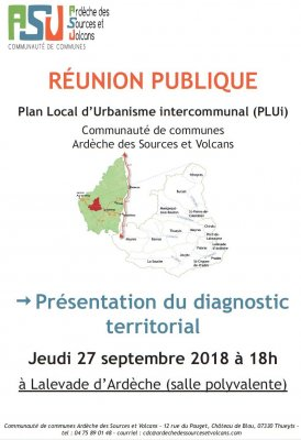 Réunion publique PLUi