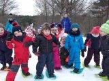 L'école maternelle à la neige