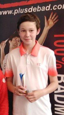 Léna LOMBARD au Championnat de France de Badminton