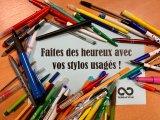 Faites des heureux avec vos stylos usagés